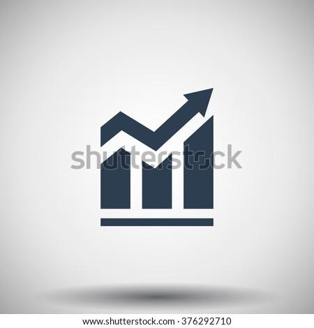 Flat black Trend icon - stock vector