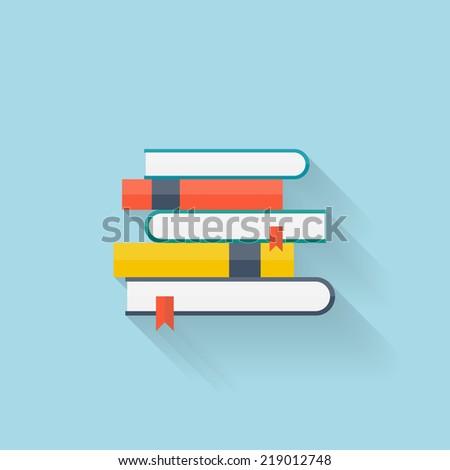 Flat book icon - stock vector