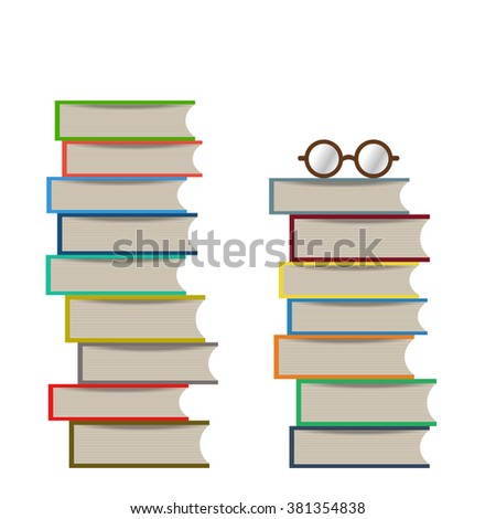 Flat books stack