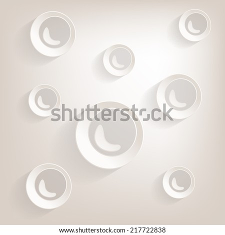 Flat bubble Icon with shadow - stock vector