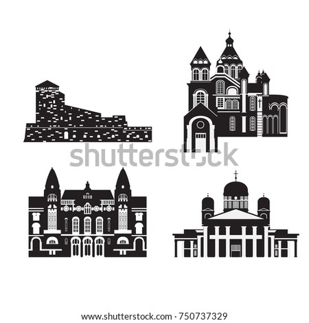 Flat Building Finland Country Travel Icon Stock Photo Photo Vector
