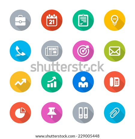 Flat Business Icons - stock vector