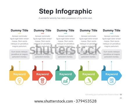 process diagram stock photos  royalty free images  amp  vectors    flat business presentation vector slide template   step process diagram