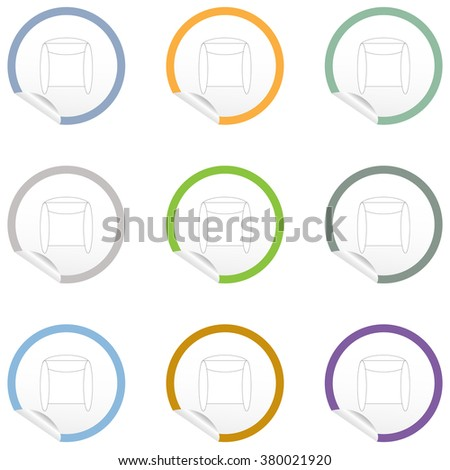 Flat Chair Icon On Sticker Floor Stock Vector 380021962 - Shutterstock