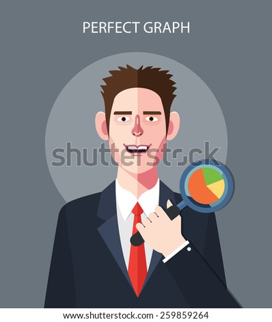 Flat character of perfect graph concept illustrations - stock vector