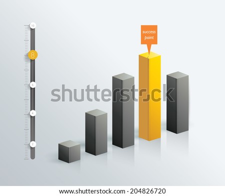 Flat chart. Infographic element. Vector. - stock vector