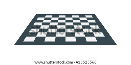 Flat checker chess board square abstract background vector. Chess board white black chess board game strategy and play sport chess board. Chess board competition square table leisure check empty. - stock vector