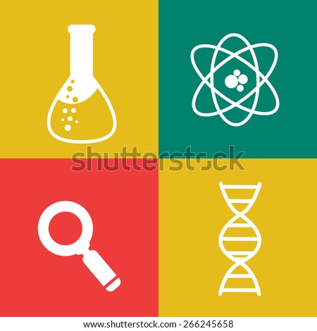 Flat chemical icons