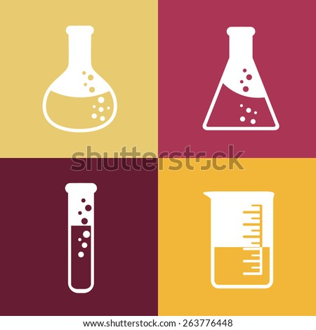 Flat chemical tubes icon - stock vector