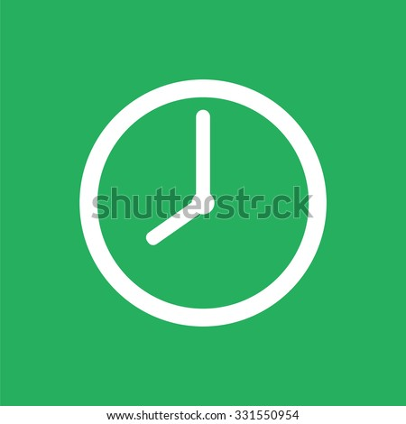 Flat clock icon. Time icon. - stock vector
