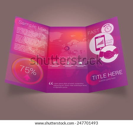 Flat colorful modern brochure template