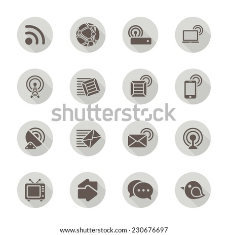 Flat Communication Icons