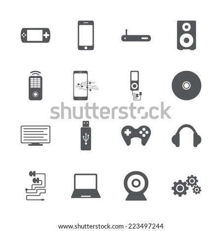 Flat concept, set modern design with shadow icons for web design and mobile applications, SEO. search Engine Optimization:  technology icons