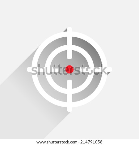 Flat crosshair with red dot - illustration