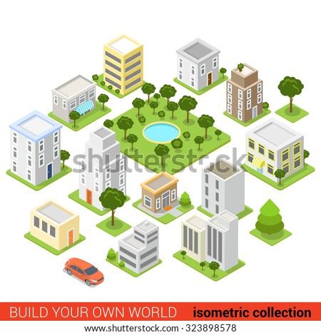 Isometric city stock images royalty free images vectors for Find a builder in your area