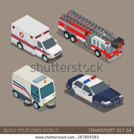 Flat 3d Isometric High Quality City Stock Vector 287809283 ...