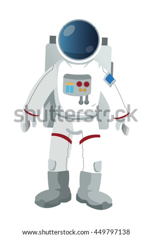 flat design astronaut suit icon vector illustration