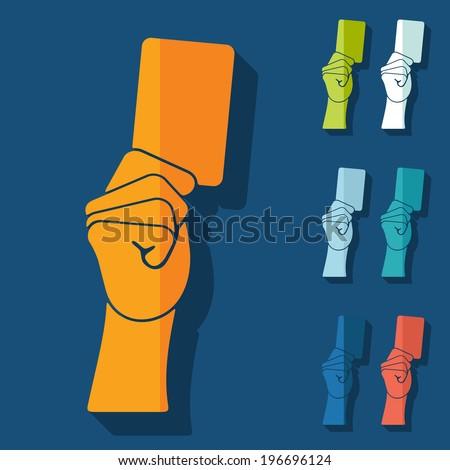 Flat design: card - stock vector