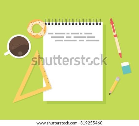Flat design concept for school - stock vector
