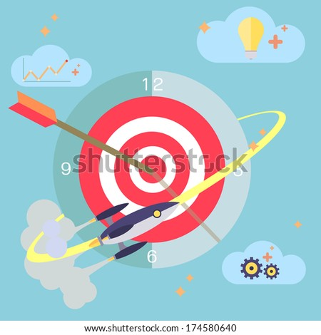 Flat design concept of time management work planning process and business metaphor time is money modern vector illustration - stock vector
