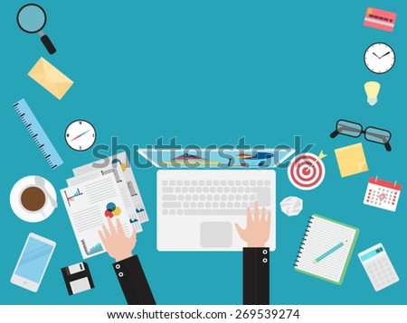 flat design concepts for business - stock vector