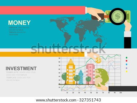 Flat design concepts for business, finance, strategic management, investment, natural resources. Concepts for web banners and promotional materials.