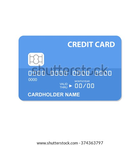 Flat design credit card template.