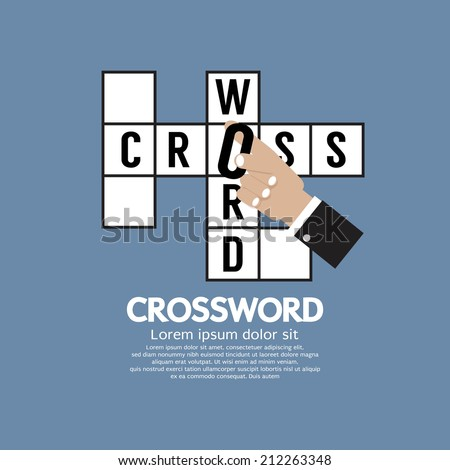 Flat Design Crossword Vector Illustration - stock vector