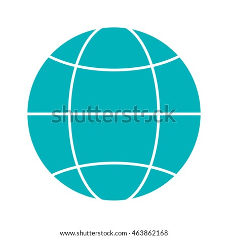 flat design earth globe diagram icon vector illustration