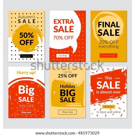 flat design eye catching sale website stock vector royalty free