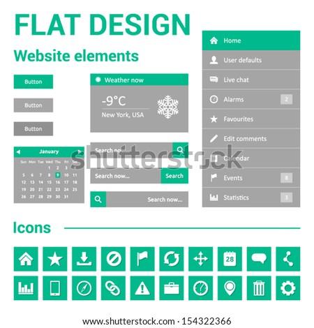 flat design website web template set stock vector royalty free