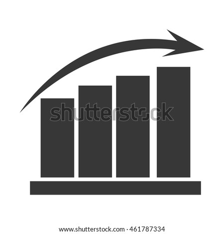 flat design graph chart icon vector illustration