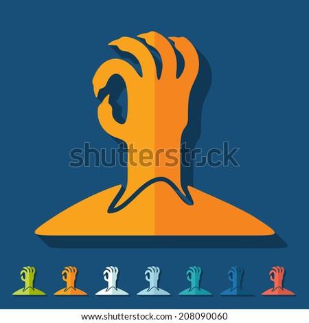 Flat design: hand - stock vector