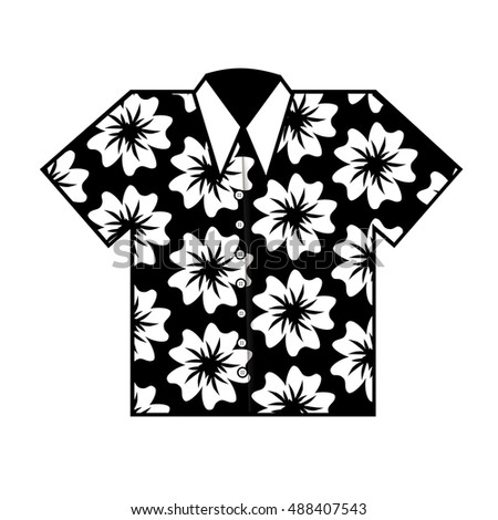 Flat Design Hawaiian Aloha Shirt Icon Stock-Vektorgrafik 488407543 ...
