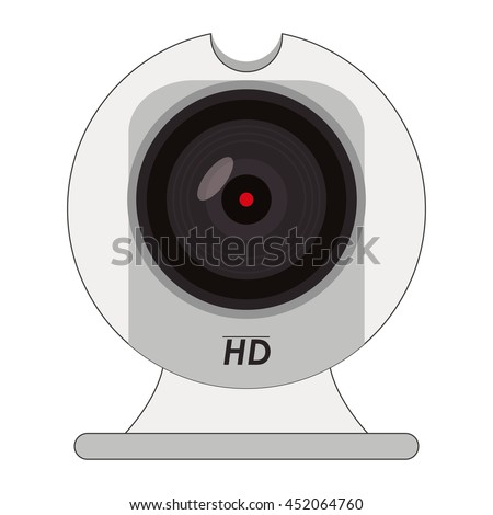flat design hd webcam icon vector illustration