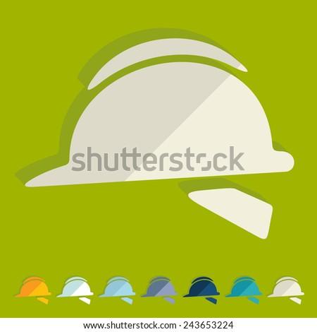 Flat design: helmet - stock vector