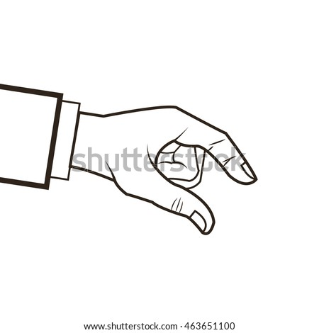 flat design human hand icon vector illustration