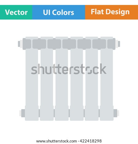 Flat design icon of Radiator in ui colors. Vector illustration.  - stock vector
