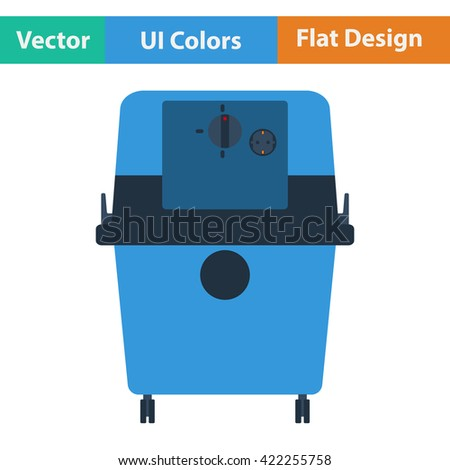 Flat design icon of vacuum cleaner in ui colors. Vector illustration.