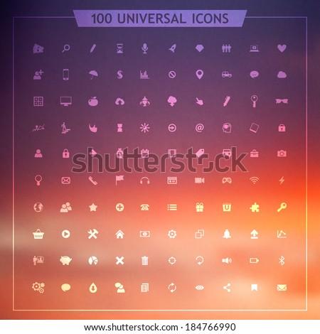 Flat design icon set  - stock vector
