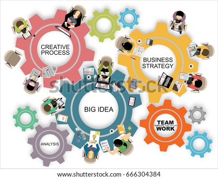 Flat Design Illustration Concepts Business Analysis Stock Vector