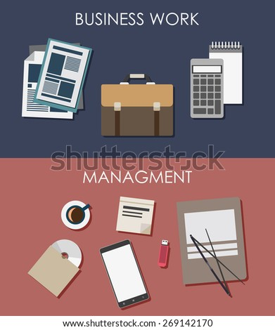 Flat design illustration concepts for business. Concepts web banner and printed materials in flat style. - stock vector