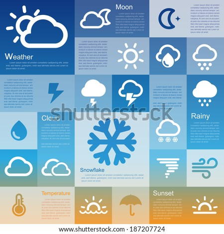 Flat design interface icon set 3  .Illustration eps10 - stock vector
