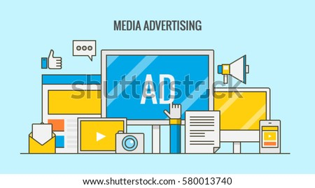 Paid Media Logo Flat Design