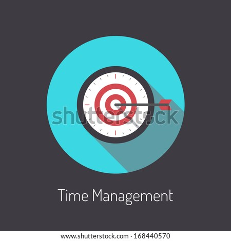 Flat design modern vector illustration poster concept of time management planning process and business metaphor time is money. Isolated on black background. - stock vector