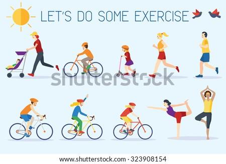 Outdoor Exercise Clip Art