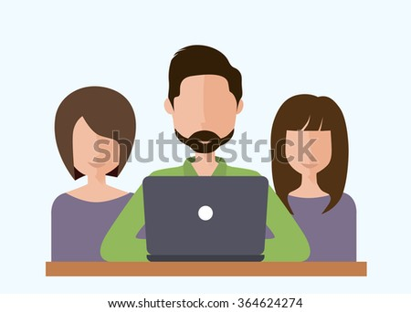 Flat design style modern vector illustration concept for business people teamwork, human resources, career opportunities, team skills, management - stock vector