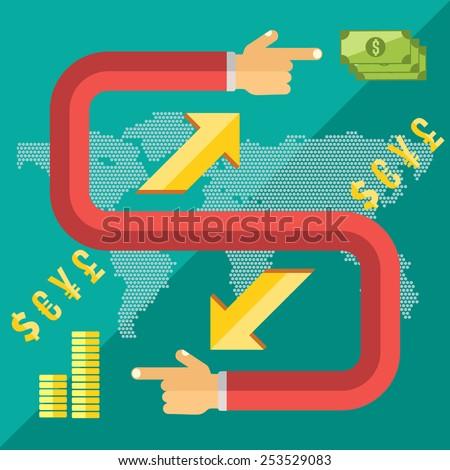 Flat Design Style Modern Vector Illustration Stock Vector 253529083