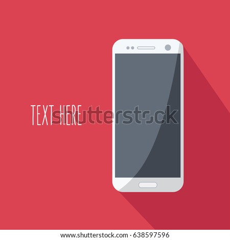 flat design style red background template stock vector 638597596