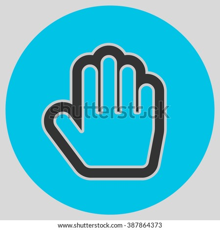 Flat Design Style Stop Hand Mouse Stock Vector Hd Royalty Free